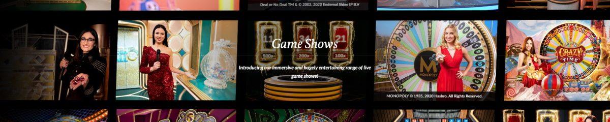 Game Shows är populära i live casino