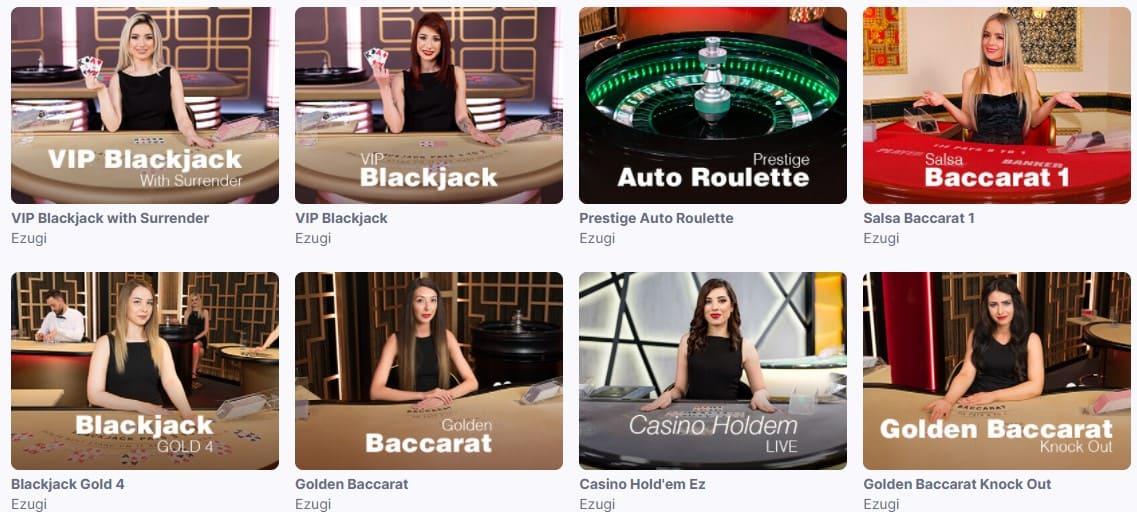 Många livespel i casino utan licens